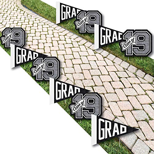 Big Dot of Happiness All Star Grad - Pennant Flag & 2019 Lawn Decorations - Outdoor Graduation Party Yard Decorations - 10 Piece]()