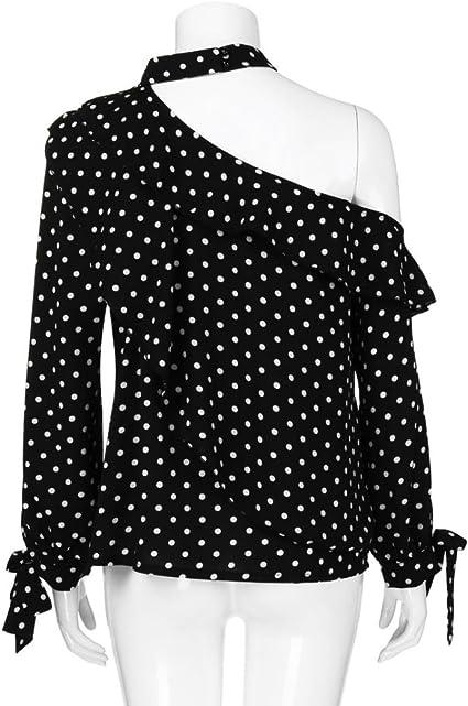 DEELIN Blusa De Moda con Lunares para Mujer Blusa De Moda con ...