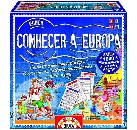 Educa Borrás- Conhecer a Europa, en portugués (14671): Amazon.es: Juguetes y juegos