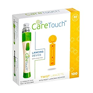 Care Touch Care Touch CTLAND100 30 Gauge Lancets and Lancing Device, Shape (Pack of 100)