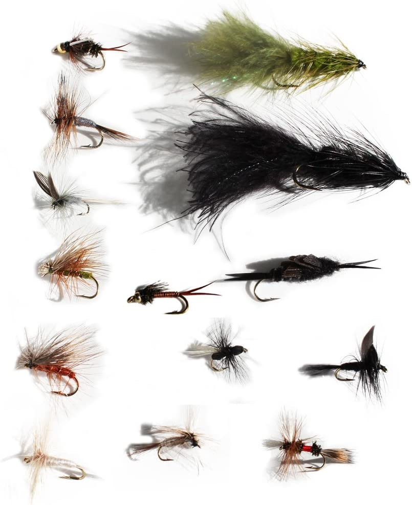 Fishing Flies 12 Pack Coloured CDC F Flies F Fly trout Flies Choice of sizes