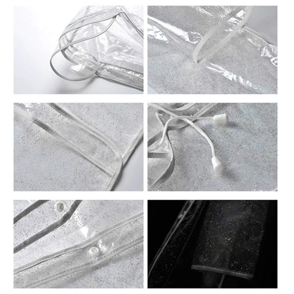 Sixcup/® Regenponcho Wiederverwendbar Regenmantel Reflektierender Leichter Transparenter Regenmantel mit Kapuze Wasserdichter,Wiederverwendbarer Regenponcho Regenbekleidung Regenjacke f/ür Erwachsene