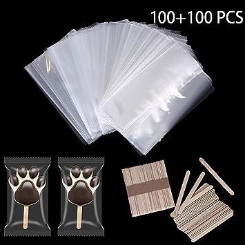 Amazon.com: Bolsas de helado de plástico desechables, tamaño ...