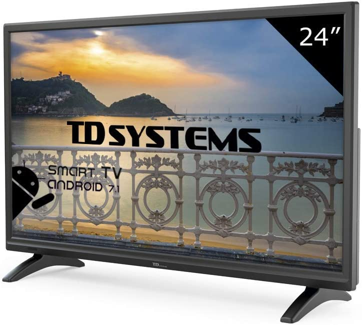 TD Systems K24DLM8HS - Televisor Led 24 Pulgadas HD Smart, resolución 1366 x 768, HDMI, VGA, 2X USB, Smart TV.: Amazon.es: Electrónica