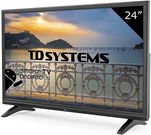 TD Systems K24DLM8HS - Televisor Led 24 Pulgadas HD Smart, resolución 1366 x 768, HDMI, VGA, 2X USB, Smart TV.: Amazon.es: Electrónica