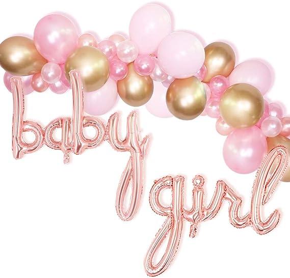 118Pcs Baby Shower Girl Party Decoration Balloons Garland Arch Kit Pastel Pink Metallic Silver Ballon Wedding Anniversary Adult