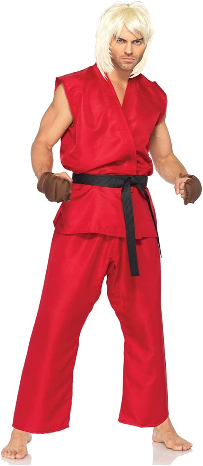 Amazon Com Street Fighter Ken Adult Costume Medium Large Red Clothing