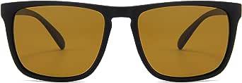 TAC black sunglass with a dark yellow tint