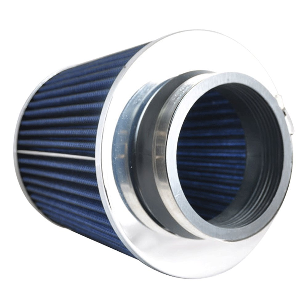 3.5 Inch Race Performance Cold Air Intake Filter KN Type Blue by IKON MOTORSPORTS Air Intake Fits 1988-2001 Integra