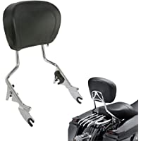 BBUT Chrome Quick Connect Detach Passenger Backrest Sissy Bar w//Flat Luggage Rack for Harley Sportster XL 883 1200 Models 1994-2003 1995 1996 1997 1998 1999 2000 2001 2002