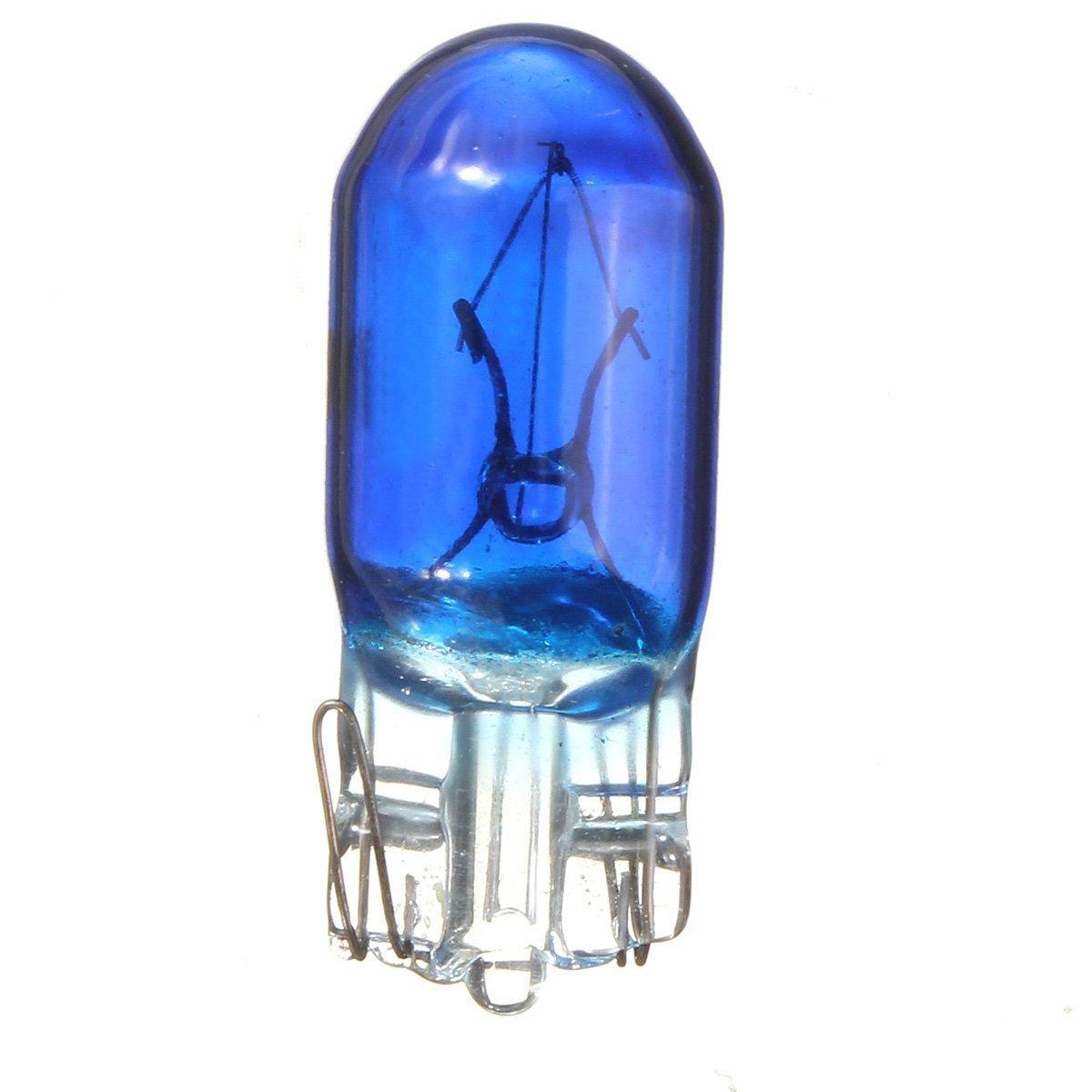 Luz marcadora - SODIAL(R) 10x Azul T10 194 168 W5W Luz Bombilla DC12V Luz marcadora de cuna del coche Luz de estacionamiento Luz trasera Luz de puerta de licencia de automovil 066047