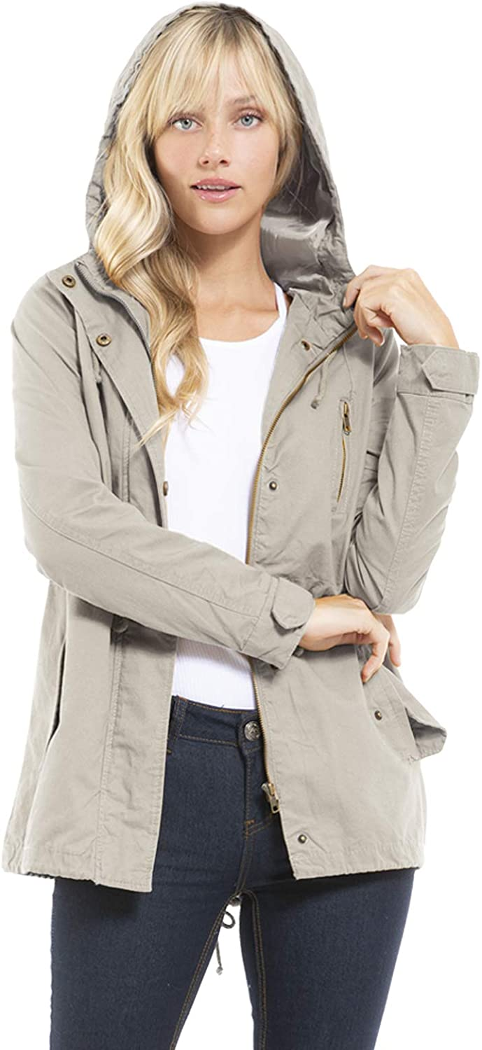 Design by At the Inventory cleanup selling sale price of surprise Olivia Women's Military Jacket Anorak Hoodie Safari