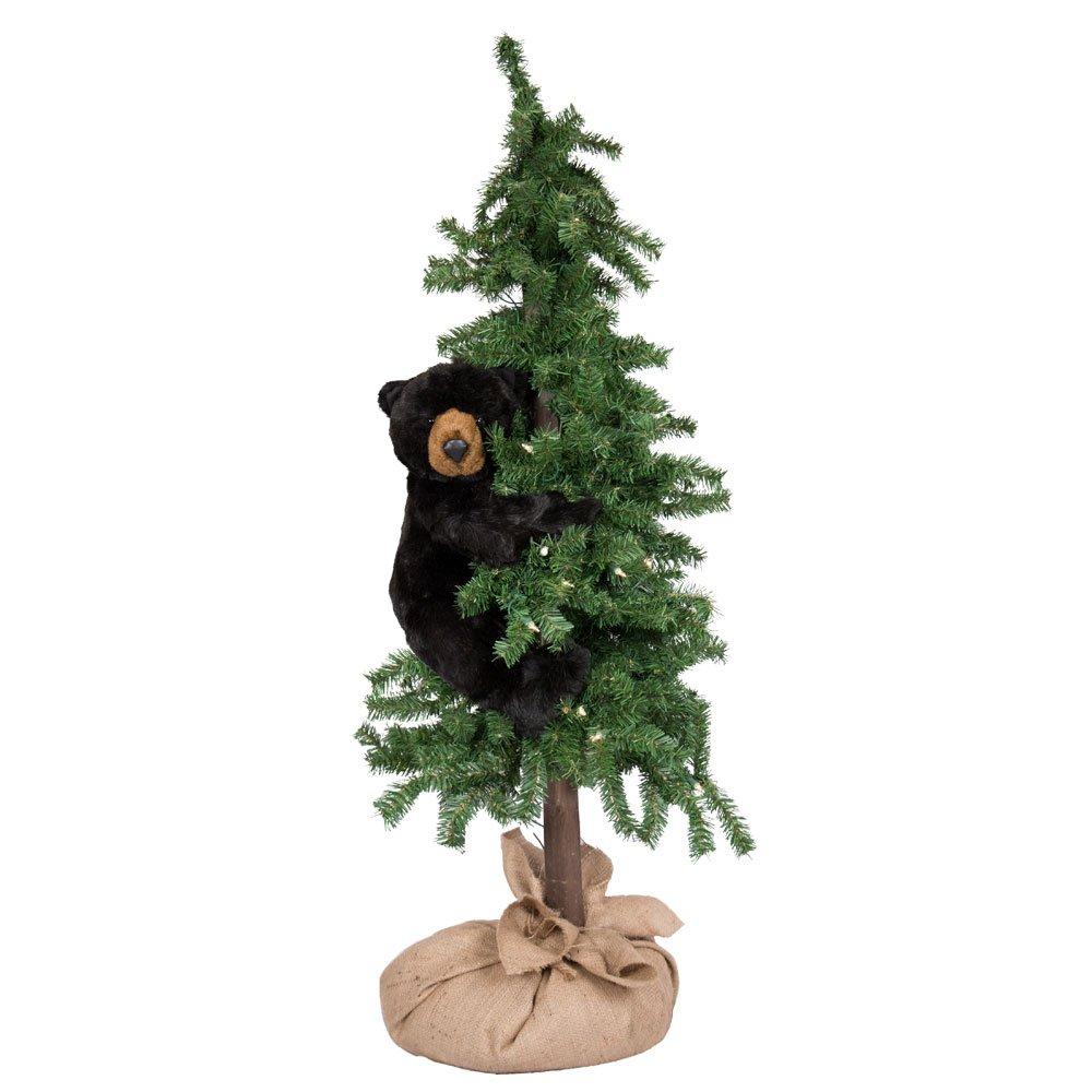 Ditz Designs Alpine Tree Bear Black 48''