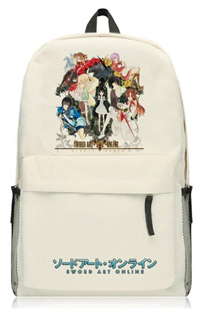 SiawaseyソードアートオンラインアニメSaoコスプレDaypack Collegeバックパックスクールバッグ  8 B071K41PMZ