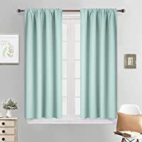 Yakamok Blackout Curtains for Bedroom - Rod Pocket Thermal Insulated Room Darkening Curtains for Living Room, Set of 2…
