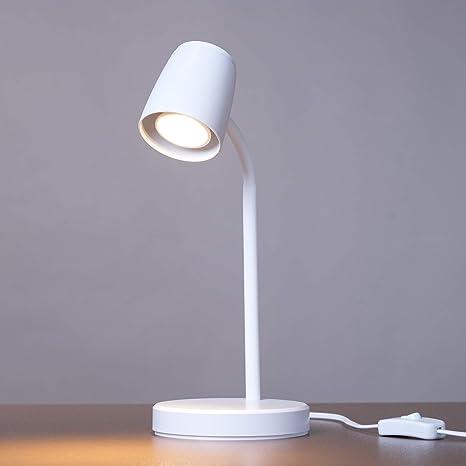 Kalb Lampada Da Tavolo A Led Bianca Lampadina Sostituibile Gu10 Bianco Caldo 230 V Amazon It Illuminazione