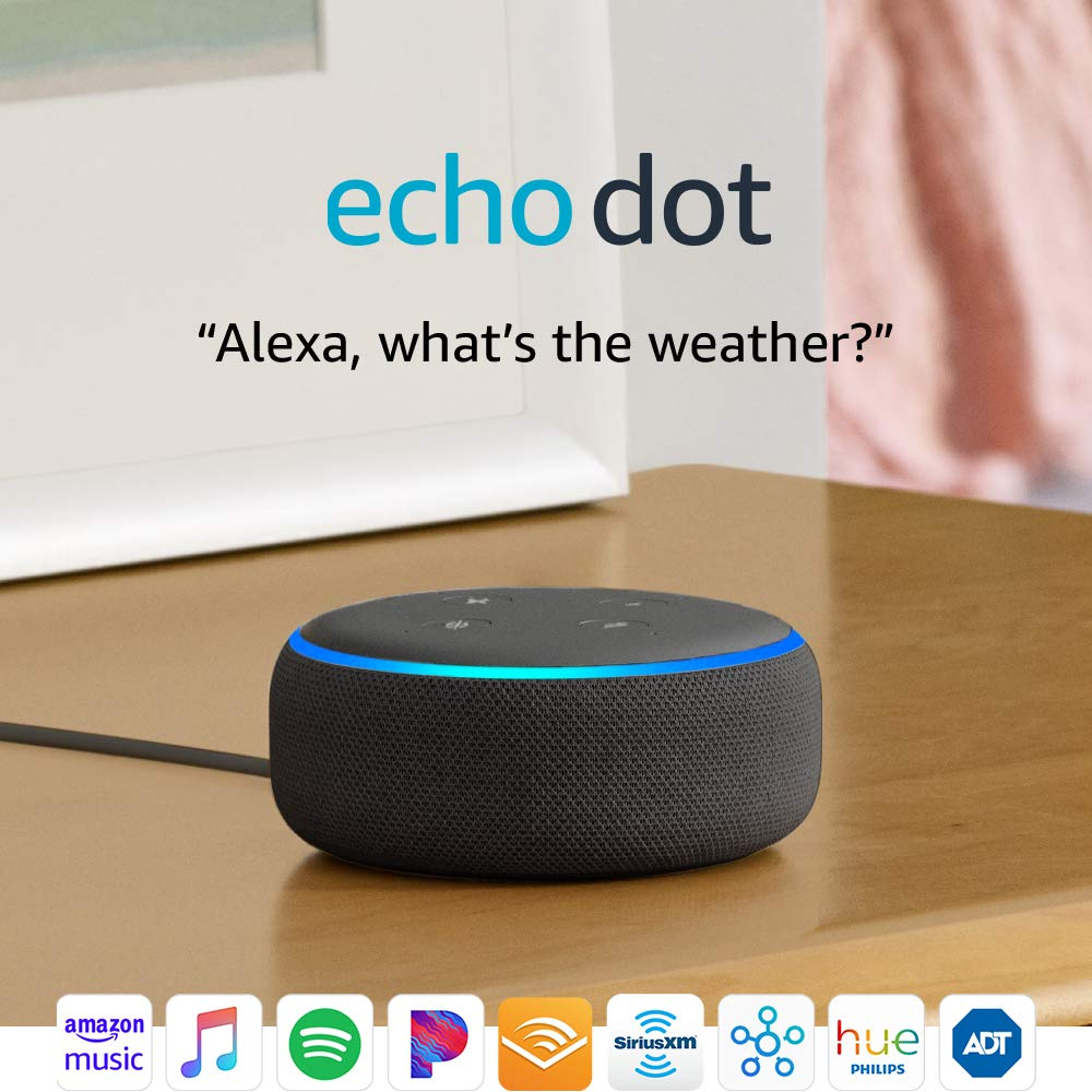 echo dot smart speaker with alexa