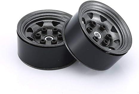 AX515BWH RC Car Aluminum Alloy White Wheel Rim 4PCS 1.55in Beadlock Wheel Hub