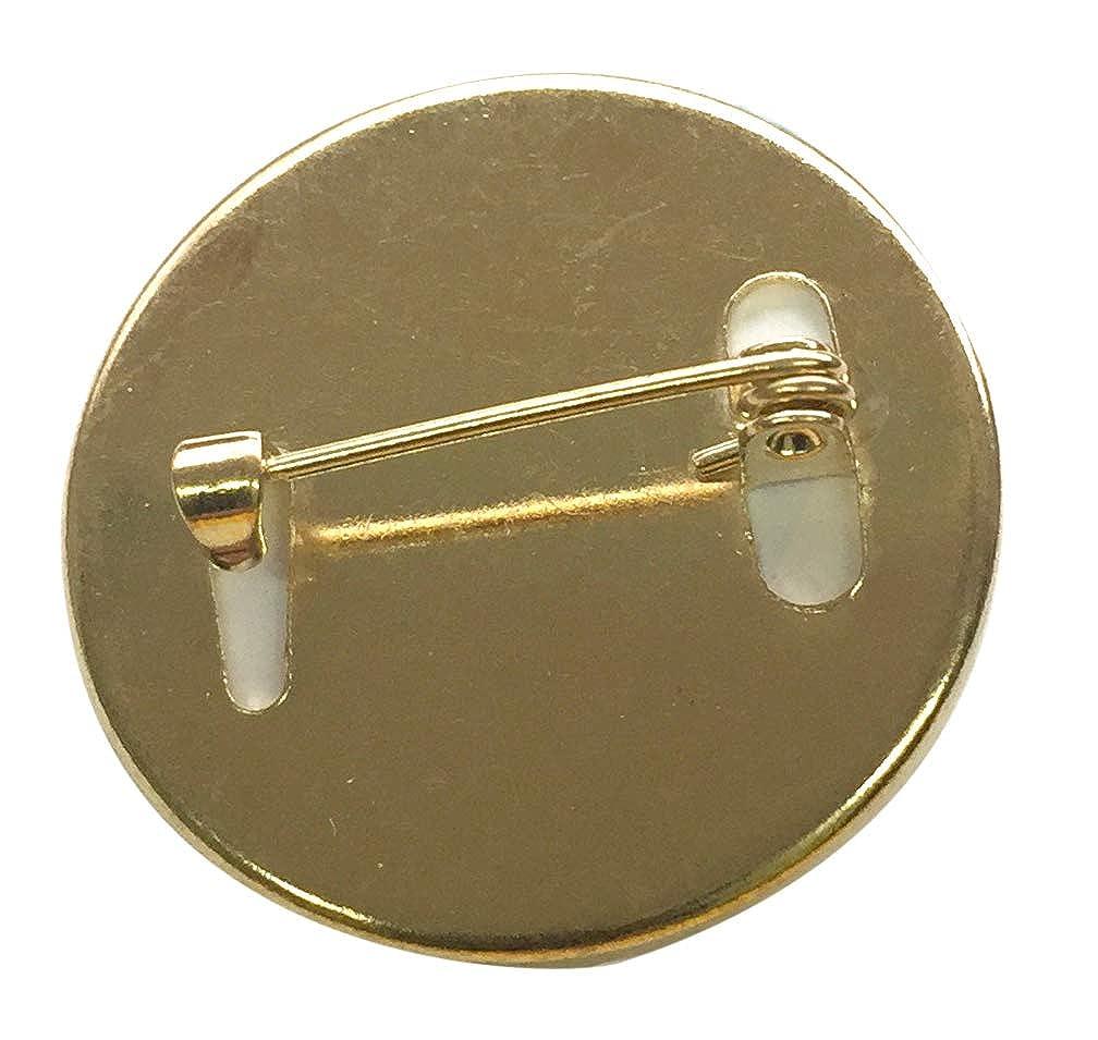 Capricornone Recycle Team 27mm Round School Badge Gold