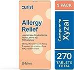 Curist Generic Xyzal (Levocetirizine dihydrochloride Tablets) 5 mg (3 Pack) -