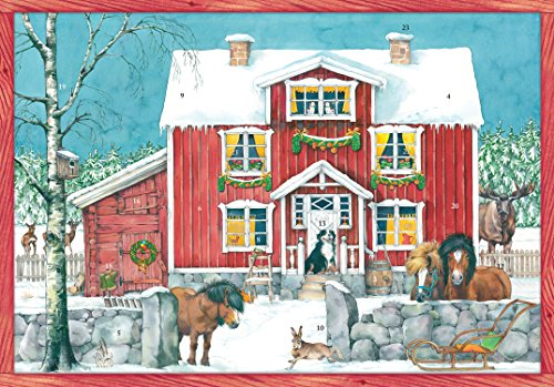 Coppenrath Unique Traditional Advent Christmas Calendar - Premium Made in Germany -Charming Nordic Farm