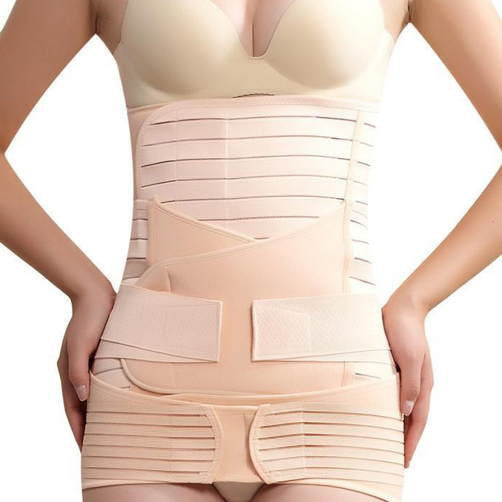 Rovtop 3 in 1 Postpartum Support Recovery Belly Wrap Waist/Pelvis Belt Body Shaper Postnatal Shapewear