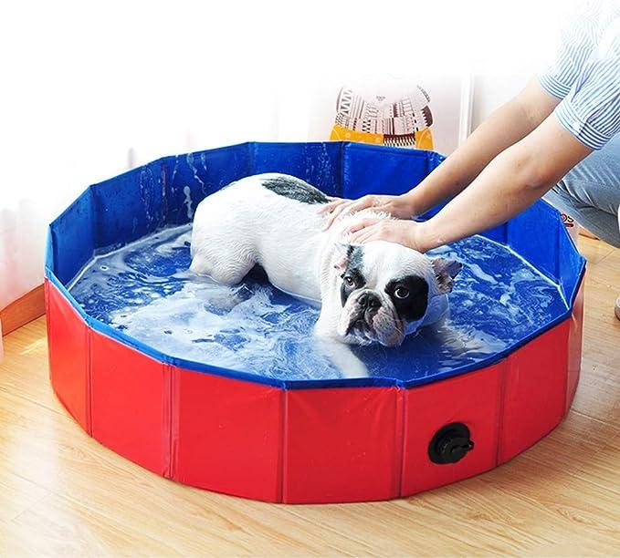 Decdeal Piscina Plegable para Perros Gatos Bañera Baño Portátil ...