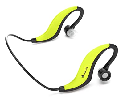NGS Artica Runner - Auriculares de contorno de cuello, color amarillo