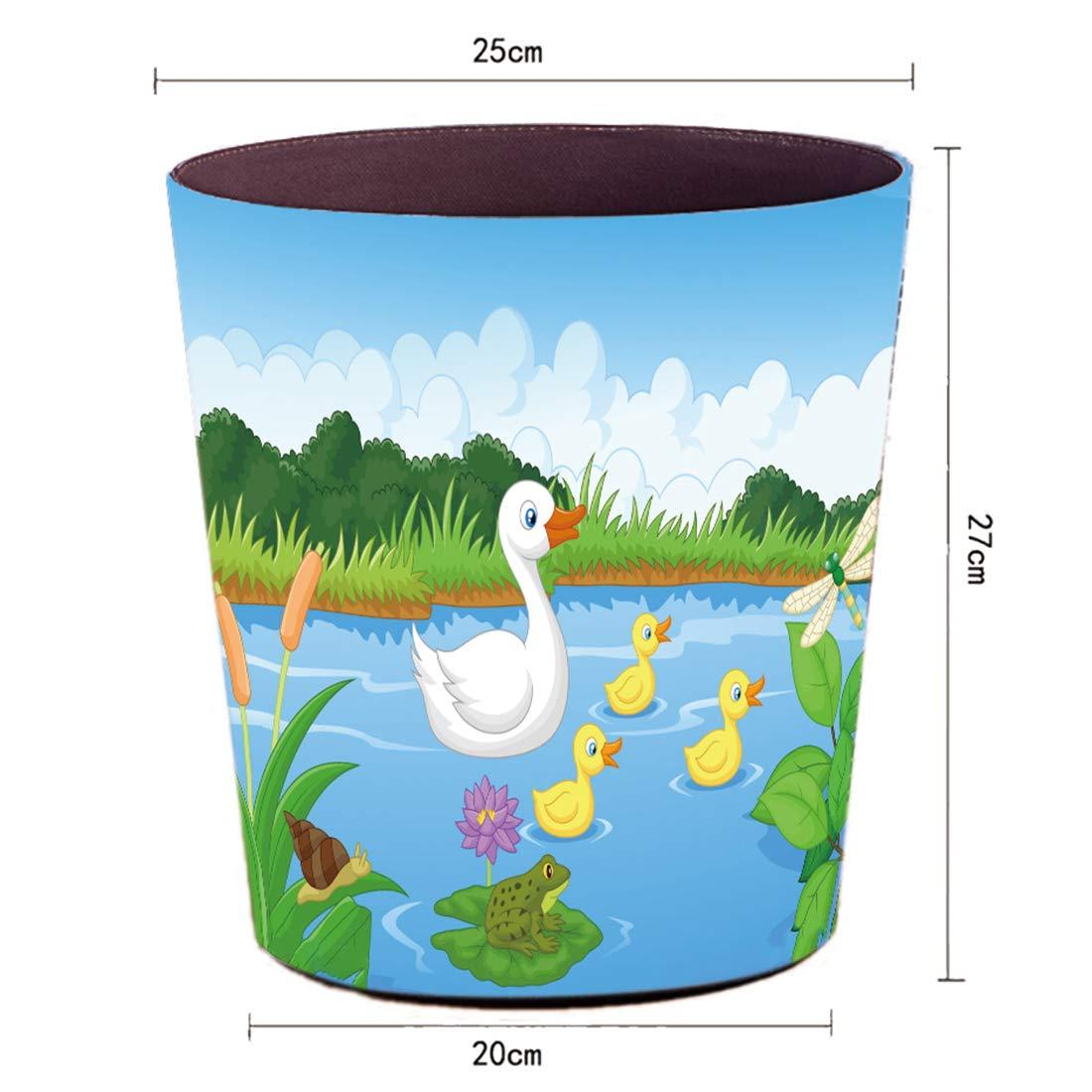 27x25x20 cm 10L Impermeable Papelera Infantil Cubo de Basura Basurero para Oficina Habitacion Cocina Yavso Papeleras Habitacion