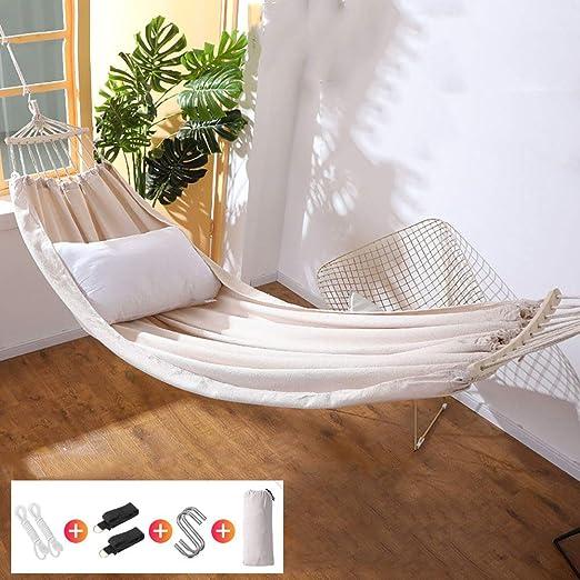 QJJML Hamaca para Exterior, Carga MáXima De 300 Kg, Hamaca De JardíN con Bolsa De Transporte, Adecuada para Patio, Camping, Playa Y Terraza, 220×150CM: Amazon.es: Jardín
