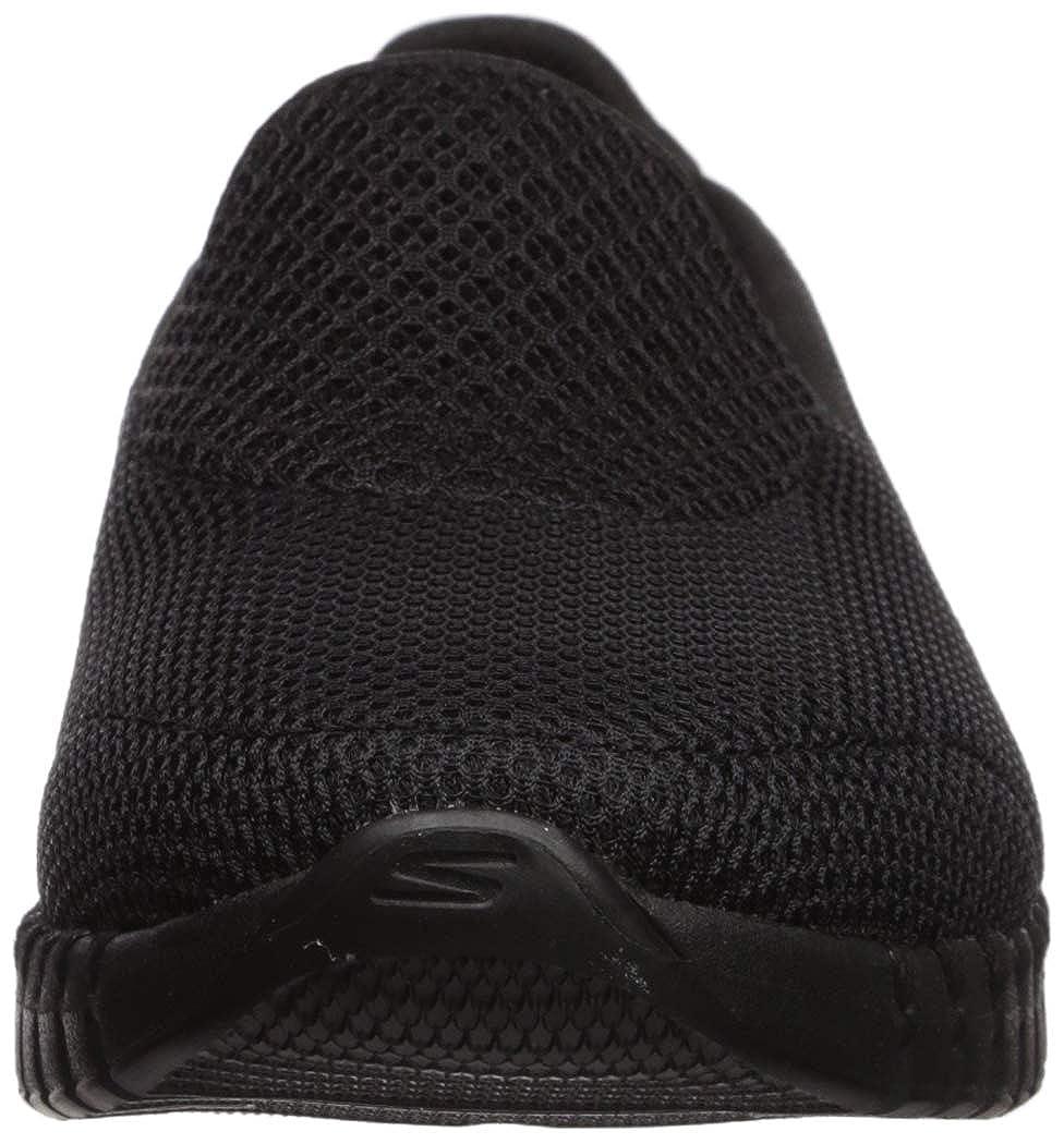 Skechers Damen Go Walk Smart Sneaker Schwarz (Black Textile/Trim Bbk)