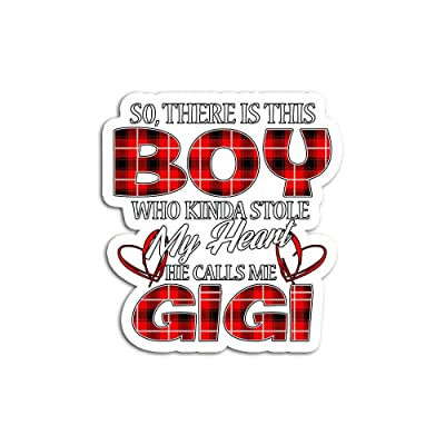 Hand Wooden Customizable Sticker There is This Boy Who Kinda Stole My Heart He Calls Me Gigi Stickers for Personalize (3 pcs/Pack): Home & Kitchen