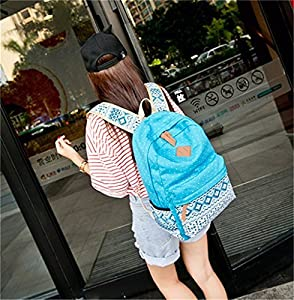 Hitop Geometry Dot Casual Canvas Backpack Bag, Fashion Cute Lightweight Backpacks for Teen Young Girls from HITOP