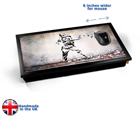 Banksy Soldier Music Laptop Tray Cojín Bandeja para Portátil ...