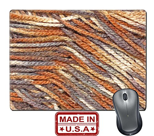 "Price comparison product image Liili Natural Rubber Mouse Pad/Mat with Stitched Edges 9.8"" x 7.9"" IMAGE ID: 410495 Fuzzy brown wool yarn"