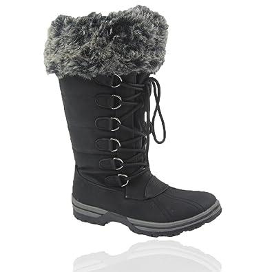 Amazon.com | Comfy Moda Women's Winter Snow Boots Blue Mountain #6 ...