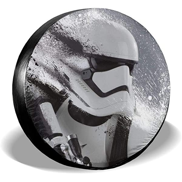 Truck and Many Vehicle Wheel Diameter 17inch Trailer SUV RV Storm Trooper Star Wars Spare Tire Cover Universal Dust-Proof Waterproof Wheel Covers-for Jeep