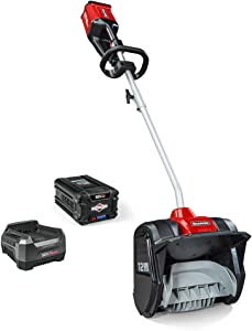 Snapper XD 82V MAX Cordless Electric Snow Shovel Kit with 12-Inch clearing width, Includes (1) 2.0 Battery and (1) Rapid Charger