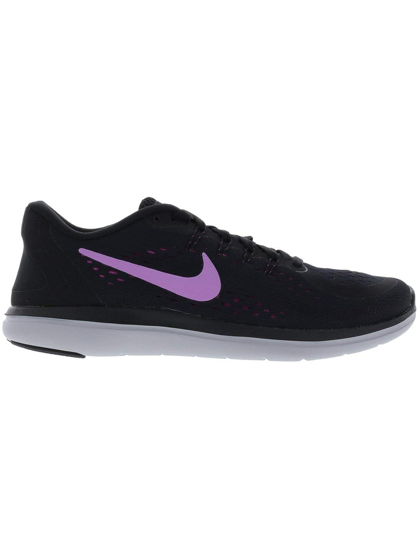 0434542e191f7 Nike Women's Flex 2017 Rn Black/Fuchsia Glow Ankle-High Cross Country  Running Shoe - 5M