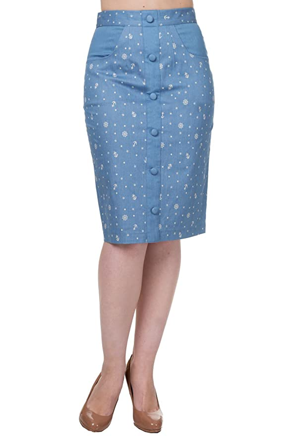 Banned - Falda - para mujer Alaska Blue<br> X-Large: Amazon.es ...