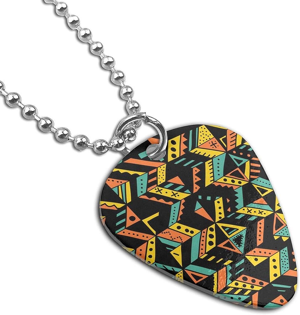 Tribal Trendy Ornaments Custom Guitar Pick Pendant Necklace Keychain