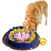 PROKTH Dog Snuffle Mat, Hand Woven Dog Sniffing Pad - Slow Feeding Dog Cat Food Mat/Activity Play Mat/Interactive Puzzle Toys/Dog Nosework Spliced Blanket