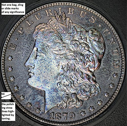 1879 S Morgan Silver Dollar 1879-S MS-67 DMPL Variety Attributed Discovery Coin FGA 101 DDO Doubled Die Obverse Doubled Date & Witches Hair Die Polishing Strea Reverse $1 MS-67 DMPL Fiduciary Grading & Attribution