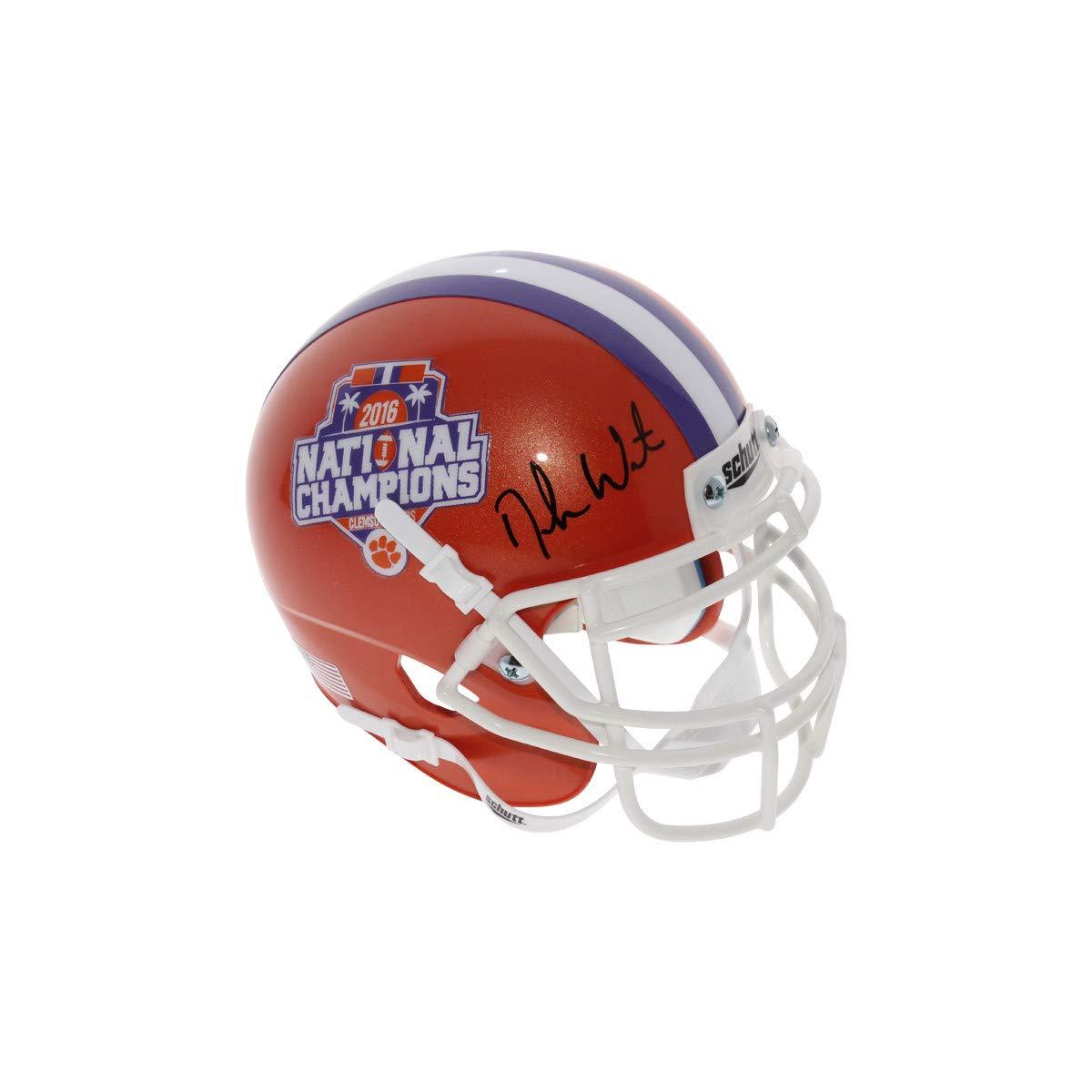 Deshaun Watson Autographed Signed Clemson Tigers Schutt 2016 National Champions Commemorative Mini Helmet - Beckett Authentic