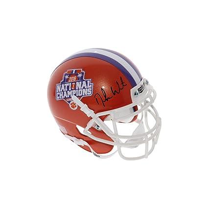 ed805ab2579 Deshaun Watson Autographed Signed Clemson Tigers Schutt 2016 National  Champions Commemorative Mini Helmet - Beckett Authentic