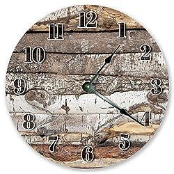 10.5 LOG CABIN CLOCK - Large 10.5 Wall Clock - Home Decor Clock