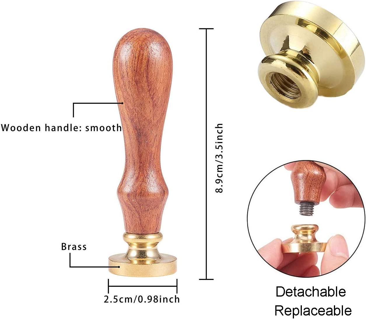 Jahrgang Wachssiegelstempel Libelle Retro Holzstempel Abnehmbar Messingkopf 25 mm F/ür Hochzeit Umschl/äge Einladungen Versch/önerung JEWELEADER Wachs-Siegel-Stempel