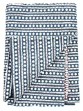Diamonds Blanket - Blue - 2 Layer 100% Organic Cotton (Queen (90
