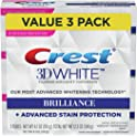 3-Pk Crest 3D White Brilliance Vibrant Peppermint Toothpaste