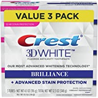 3-Pack Crest 3D White Brilliance Vibrant Peppermint Toothpaste (4.1 Ounce)